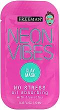 Parfumuri și produse cosmetice Mască liniștitoare - Freeman Beauty Neon Vibes No Stress Oil Absorbing Clay Mask