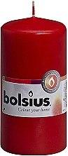 Parfumuri și produse cosmetice Lumânare cilindrică, roșie, 120x60 mm - Bolsius Candle