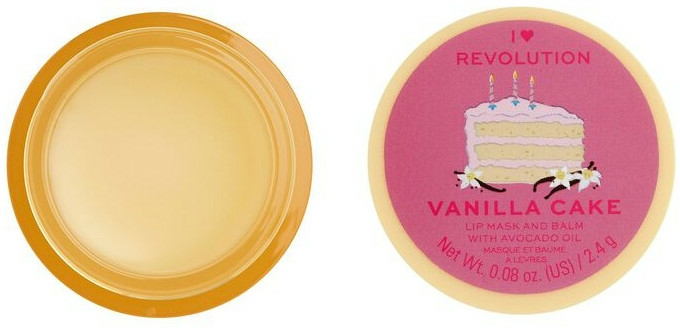 Balsam-mască de buze - I Heart Revolution Vanilla Cake Lip Mask & Balm — Imagine N2