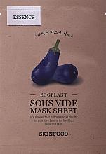 Parfumuri și produse cosmetice Mască din țesătură cu vinete pentru față - Skinfood Eggplant Sous Vide Mask Sheet