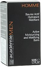 Active Balsam hidratant și matifiant - Academie Men Active Moist & Matifying Balm — Imagine N3