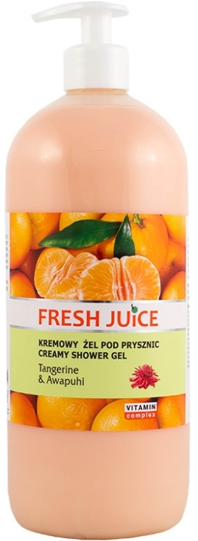 """Cremă gel de duș """"Mandarin și ghimbir"""" - Fresh Juice Hawaiian Paradise Tangerine & Awapuhi"""