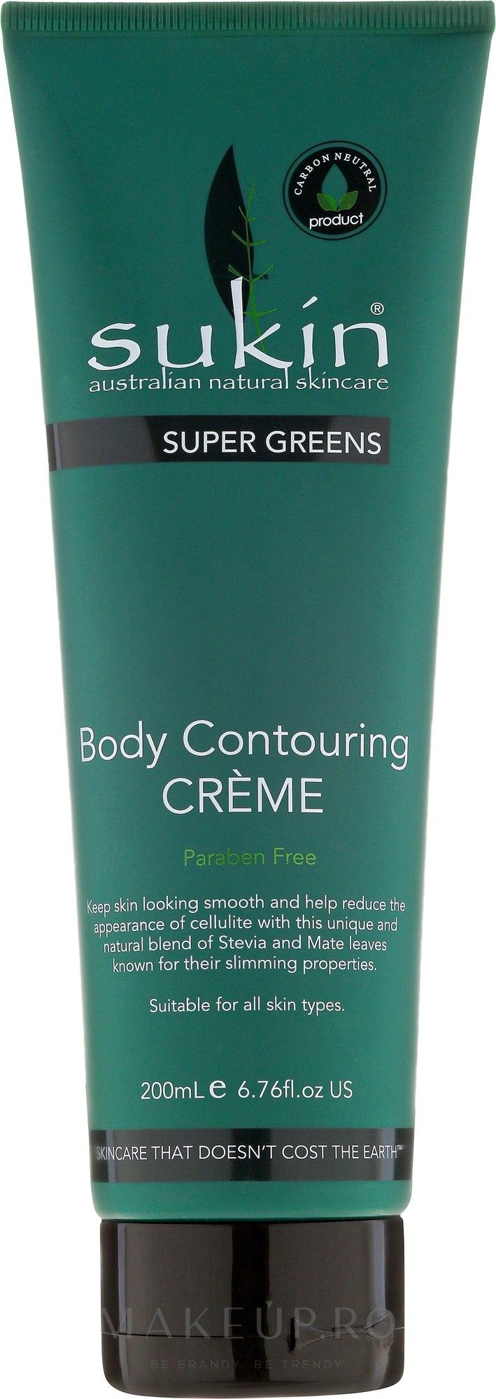 Cremă de corp - Sukin Super Greens Body Contouring Creme — Imagine 200 ml