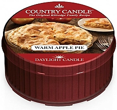 "Parfumuri și produse cosmetice Lumânare de ceai  ""Warm Apple Pie"" - Country Candle Warm Apple Pie Daylight"