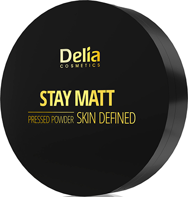 Pudră de față - Delia Stay Matt Skin Defined Pressed Powder — Imagine N1