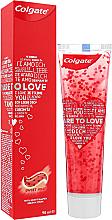 Parfumuri și produse cosmetice Pastă de dinți cu inimioare, roșie - Colgate Dare To Love