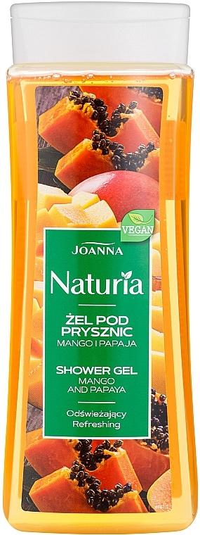 """Gel de duș """"Mango și papaya"""" - Joanna Naturia Mango and Papaya Shower Gel"""