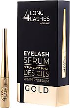 Parfumuri și produse cosmetice Ser pentru creșterea genelor - Long4lashes EyeLash Gold Serum