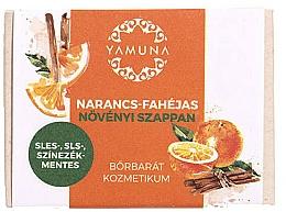 """Parfumuri și produse cosmetice Săpun """"Portocală-scorțișoară"""" - Yamuna Orange-Cinnamon Vegetable Soap"""
