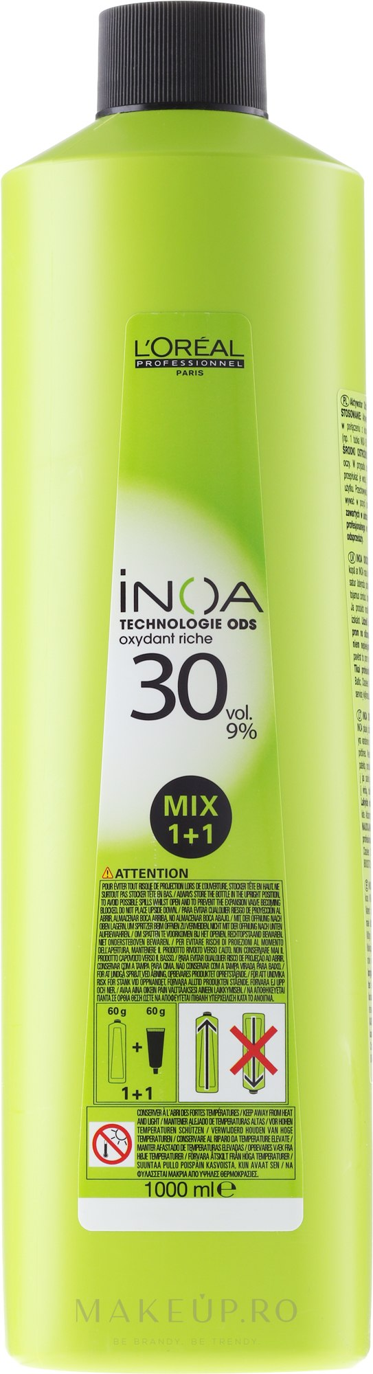 Oxidant - L'Oreal Professionnel Inoa Oxydant 9% 30 vol. Mix 1+1 — Imagine 1000 ml