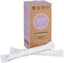 "Parfumuri și produse cosmetice Tampoane cu aplicator ""Normal"", 14 bucăți - Ginger Organic"