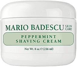 Cremă de ras, cu extract de mentă - Mario Badescu Peppermint Shaving Cream — Imagine N2