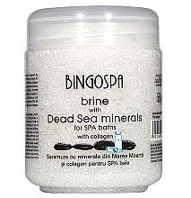 Parfumuri și produse cosmetice Sare delicată cu minerale din Marea Moartă și colagen transdermic - BingoSpa