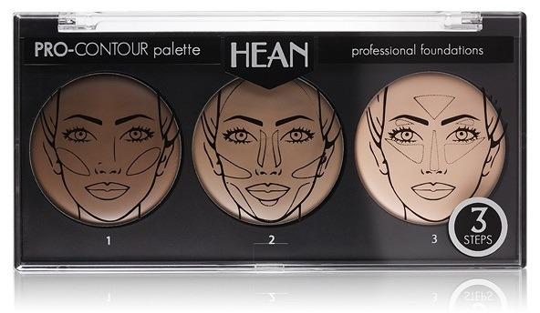 Paletă pentru conturarea feţei 3 culori - Hean Pro-Countour Palette