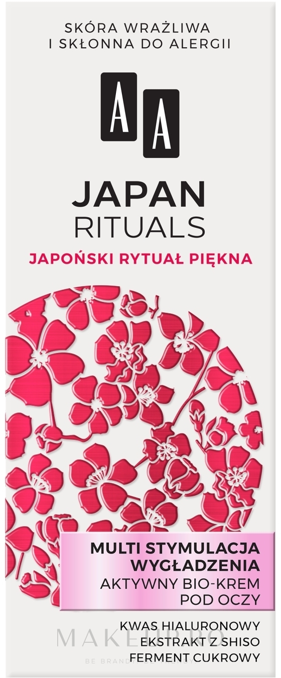 Cremă pentru zona ochilor - AA Japan Rituals Active Bio-Cream — Imagine 15 ml