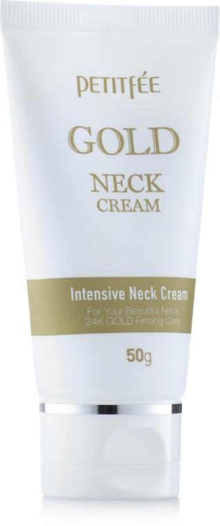 Cremă cu aur pentru gât și decolteu - Petitfee & Koelf Gold Neck Cream — Imagine N2