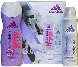 Set - Adidas Adipure Skin Detox Woman (deo/spray 150 ml + sh/gel 250 ml) — Imagine N2