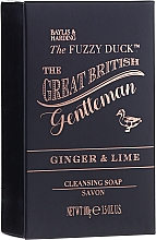 Set - Baylis & Harding The Fuzzy Duck Men's Ginger & Lime Slipper Set (bath/crystal/100g + soap/100g + sh/gel/50ml + ash/balm/50ml + slippers/1pcs) — Imagine N3