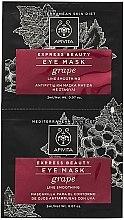 Parfumuri și produse cosmetice Mască antirid cu struguri pentru zona ochilor - Apivita Express Beauty Eye Mask Grape