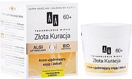 Parfumuri și produse cosmetice Cremă hidratantă pentru gât și decolteu 60+ - AA Cosmetics Age Technology Golden Revival Cream
