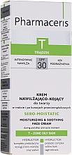 Parfumuri și produse cosmetice Cremă hidratantă pentru ten în urma tratamentului antiacneic - Pharmaceris T Sebo-Moistatic Cream SPF30