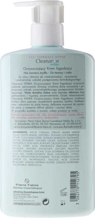 Cremă de față - Avene Cleanance Hydra Soothing Cleansing Cream — Imagine N4