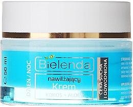 """Cremă hidratantă """"Cocos și Aloe"""" pentru pielea uscată - Bielenda Hydra Care Moisturizing Face Cream Coconut and Aloe Vera — Imagine N2"""