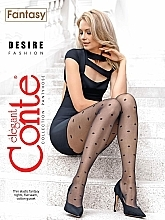 "Parfumuri și produse cosmetice Colanți ""Fantasy Desire"" 20 Den, nero - Conte"