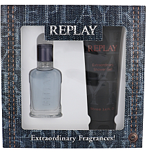 Parfumuri și produse cosmetice Replay Jeans Spirit! For Him - Set (edt/30ml + sh/gel/100ml)