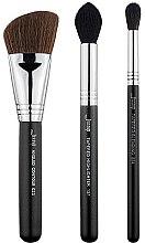 Parfumuri și produse cosmetice Set pensule pentru machiaj, T305, 3buc - Jessup