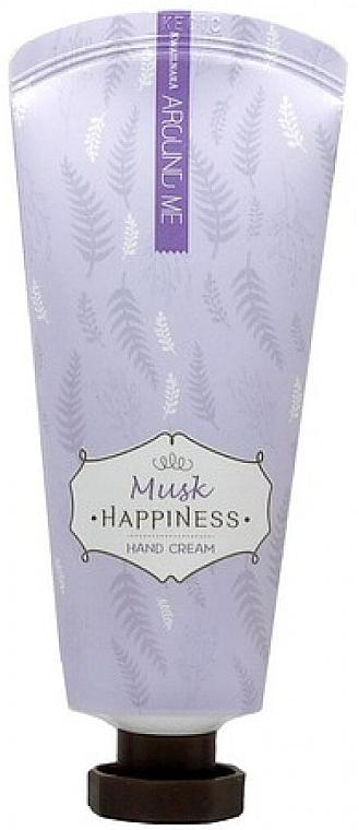 Cremă cu extract de mosc pentru mâini - Welcos Around Me Happiness Hand Cream Musk