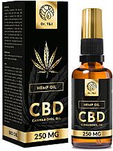 Parfumuri și produse cosmetice Ulei natural de cânepă Bio CBD 250mg - Dr. T&J Bio Oil