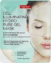 Parfumuri și produse cosmetice Mască hidrogel pentru strălucirea feței - Purederm Cell Illuminating Hydro Pure Gel Mask