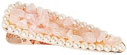 "Parfumuri și produse cosmetice Agrafă de păr ""Cuarț roz"" - Crystallove Rose Quartz Hair Clip"