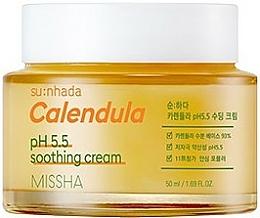"""Parfumuri și produse cosmetice Cremă calmantă """"Calendula"""" pentru ten sensibil - Missha Su:Nhada Calendula pH 5.5 Soothing Cream"""