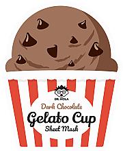 Parfumuri și produse cosmetice Mască de față - Dr. Mola Dark Chocolate Gelato Cup Sheet Mask