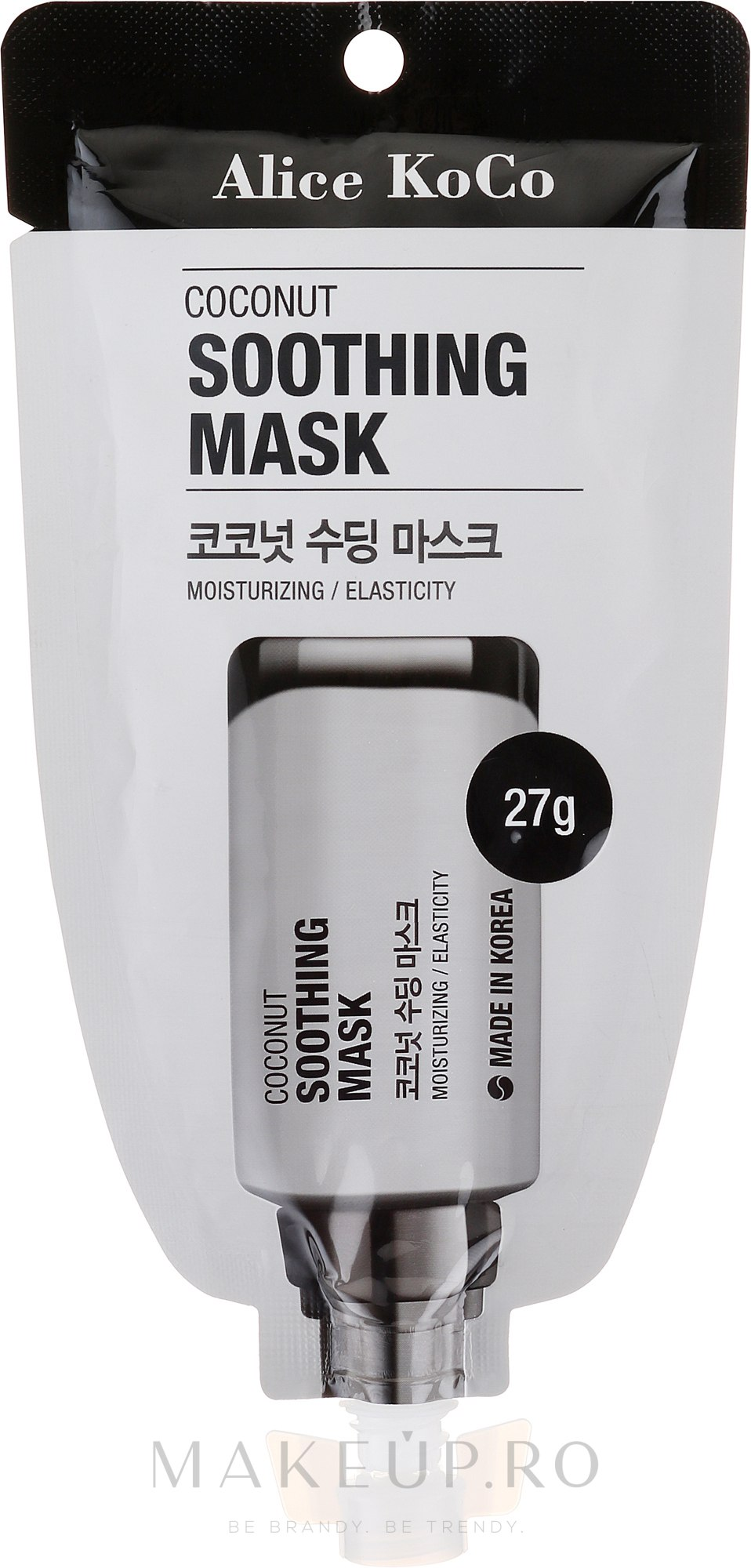Mască de față - Alice Koco Coconut Soothing Mask — Imagine 27 g