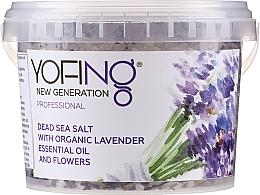 Parfumuri și produse cosmetice Sare de baie din Marea Moartă cu lavandă organică - Yofing Dead Sea Salt With Organic Lavender Essensial Oil And Flowers