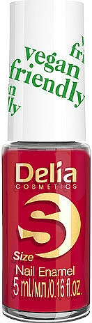 Lac de unghii - Delia Cosmetics S-Size Vegan Friendly Nail Enamel
