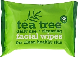 Parfumuri și produse cosmetice Șervețele umede pentru față, 25 bucăți - Xpel Marketing Ltd Tea Tree Facial Wipes For Clean Healthy Skin