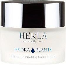 Cremă de față - Herla Hydra Plants Intense Hydrating Night Cream — Imagine N2