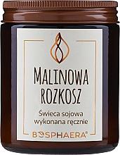 """Parfumuri și produse cosmetice Lumânare parfumată din soia """"Raspberry Delight"""" - Bosphaera Raspberry Delight Candle"""