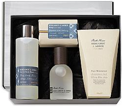 Parfumuri și produse cosmetice Bath House Bergamot & Amber - Set (edc/100ml + sh/gel/260ml + f/cr/100ml + soap/150g)