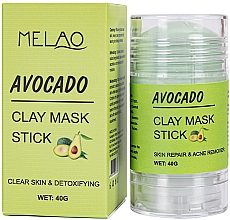 Parfumuri și produse cosmetice Mască-stick pentru față, cu extract de avocado - Melao Avocado Clay Mask Stick