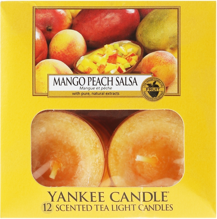 Lumânări pastile - Yankee Candle Scented Tea Light Candles Mango Peach Salsa — Imagine N2