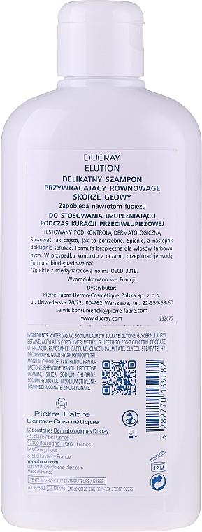 Șampon de echilibru - Ducray Elution Gentle Balancing Shampoo — Imagine N2