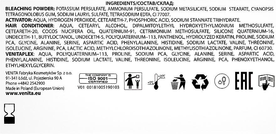 Vopsea-decolorare până la 9 tonuri - Venita Plex Platinum Lightener — Imagine N3