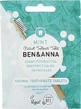 """Parfumuri și produse cosmetice Pastă de dinți, în tablete, fără fluor """"Mint"""" - Ben&Anna Mint Toothpaste Tablets Without Fluoride"""
