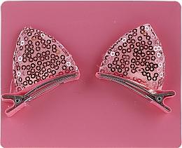 Parfumuri și produse cosmetice Set de agrafe pentru păr, cu paiete roz - Avon