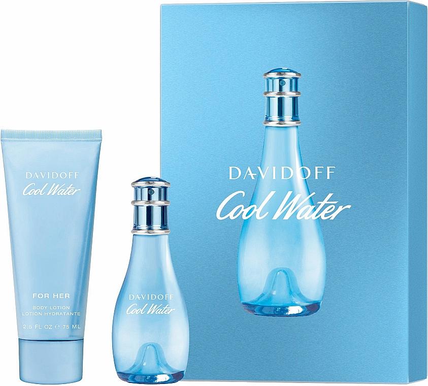 Davidoff Cool Water Woman - Set (edt/30ml + b/lot/75ml)